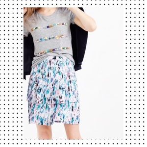 J. Crew Two-Tier Pleated Watercolor Floral…